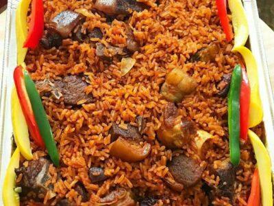 Jollof Rice, Chicken & Coleslaw