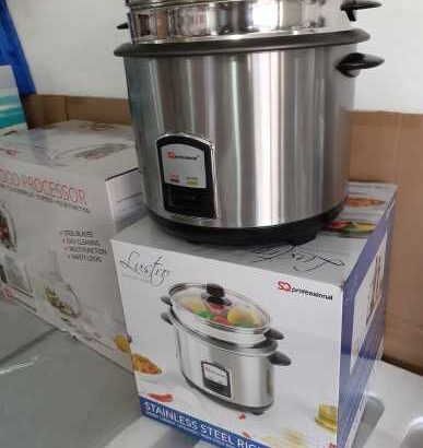 2.8 Litres Professional Stainless Steel Rice Cooker (UK)