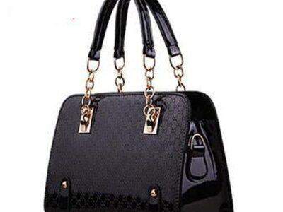 Ladies' Patent Leather Unique Purse & Handbag