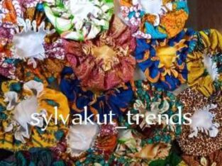Fabric Satin & African Print Bonnets