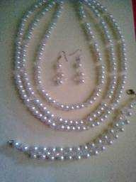 white bead jewelry