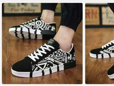 Sneaker shoe Black and white
