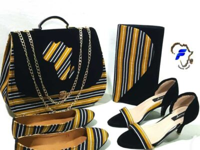 African print bags and shoes