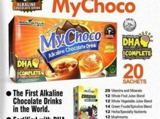 LIVEN Alkaline COFFEE and MYCHOCO chocolate drink.