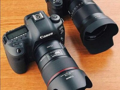 Olympus and canon cameras