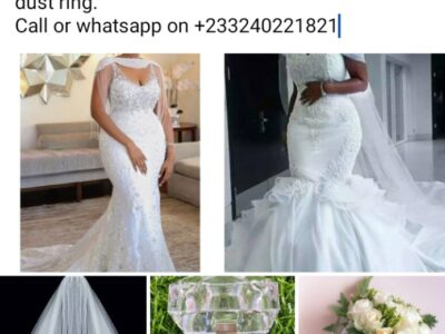 Kings and Queens Collection; Wedding gown with its accessories