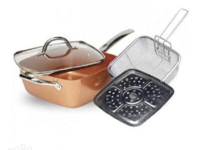 4- pieces Square Casserole pan set 9.5