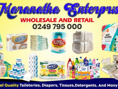 Everything toiletries, diapers and disposables
