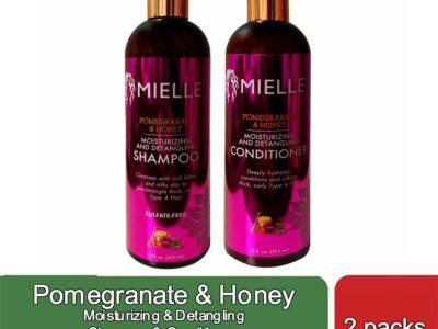2 packs Pomegranate & Honey Shampoo & Conditioner