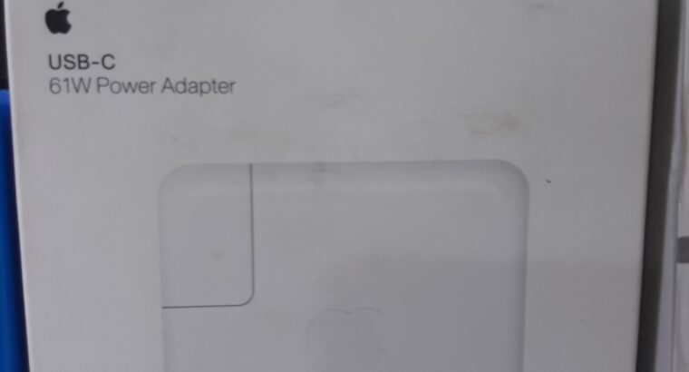 Apple USB-C 61W power adapter with cable