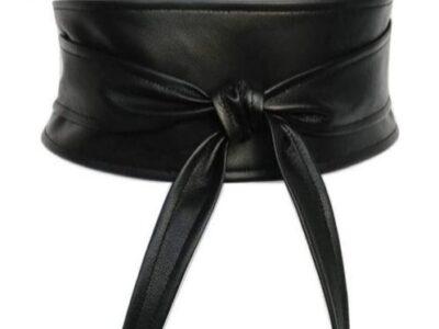 Ladies' black waist strap