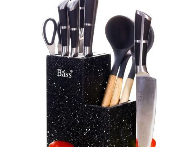 Bass KItchen Knife Set with Spoons