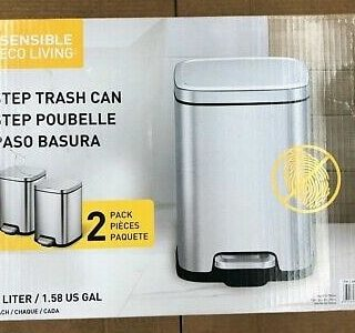 Sensible Eco Living Stainless Steel Trash Cans
