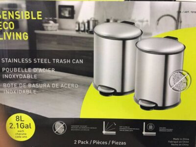 Sensible Eco Living 8L Stainless Steel Step Trash