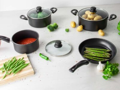 SQ Professional Carbon Steel 7pc Cookware Set