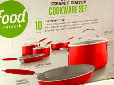 NonStick Ceramic-Coated Cookware Set