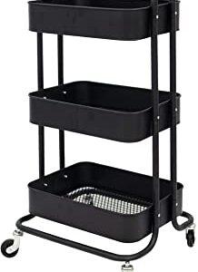 SimpleHouseware Heavy Duty Metal Cart, 3 Tier