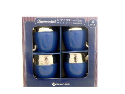Hammered Moscow Mule Mugs 4-PC Set