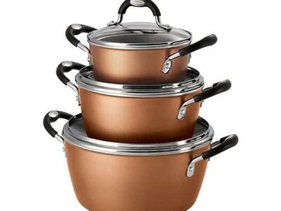 Tramontina 6-Piece Stackable Cookware Set Pewter