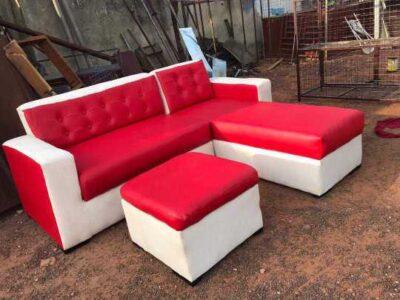 Leather living room furniture sofa