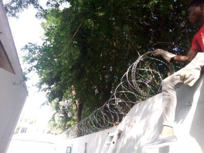 Razor Wire Fence Installation