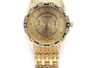 Geneva Alloy Quartz watch for men