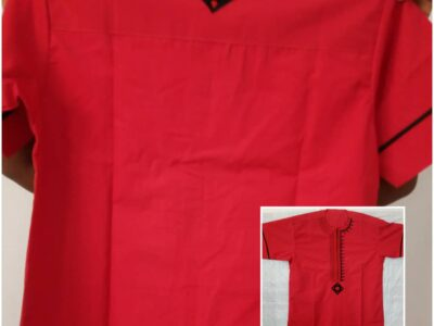 Quality Traditional Men's Red Shirt