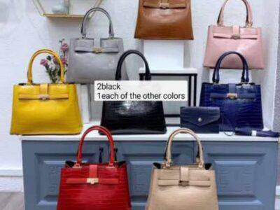 Ladies' Leather Handbags Various Colours