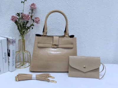 Top Ladies' Leather Handbag with Adjustable Strap