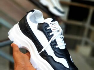 White Durable Fashionable Sneakers