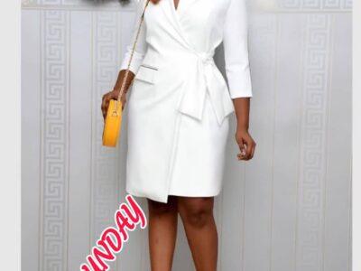 Ladies white office wear