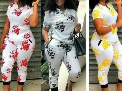 Matching pants and top for ladies