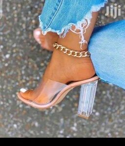 ladies transparent heels