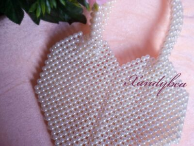 Heart Shaped Pearl Bead Bag