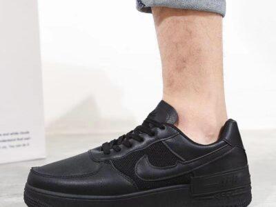 Nike Air force All Black & Brown Sneakers