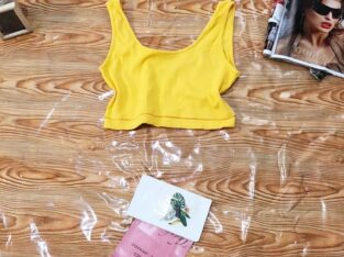 Yellow Cropped Top For Sale