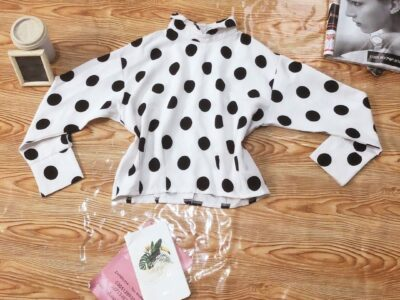 Polka Dot Cropped Top For Sale