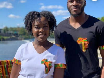 t shirt with african print