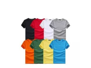 plain round neck and v neck short sleeve t-shirt