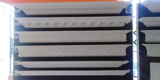 Styrofoam windows and wall mount design. P O P