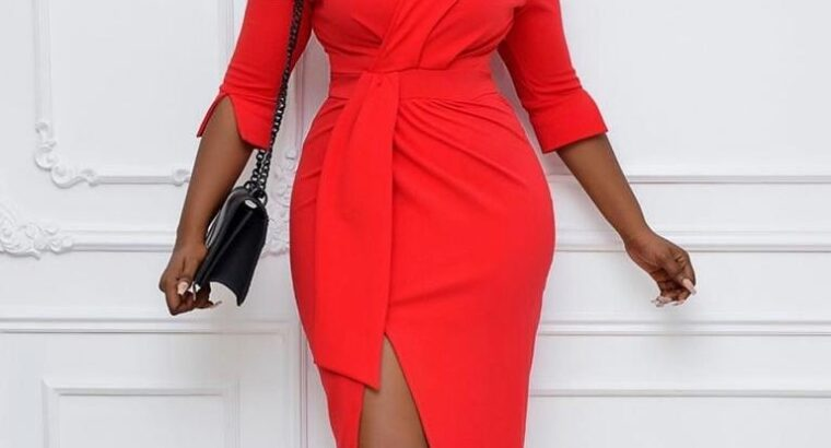 Ladies Red Fashionable Dress