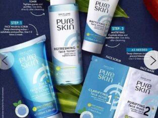 pure  skin natural  exfoliats (set)
