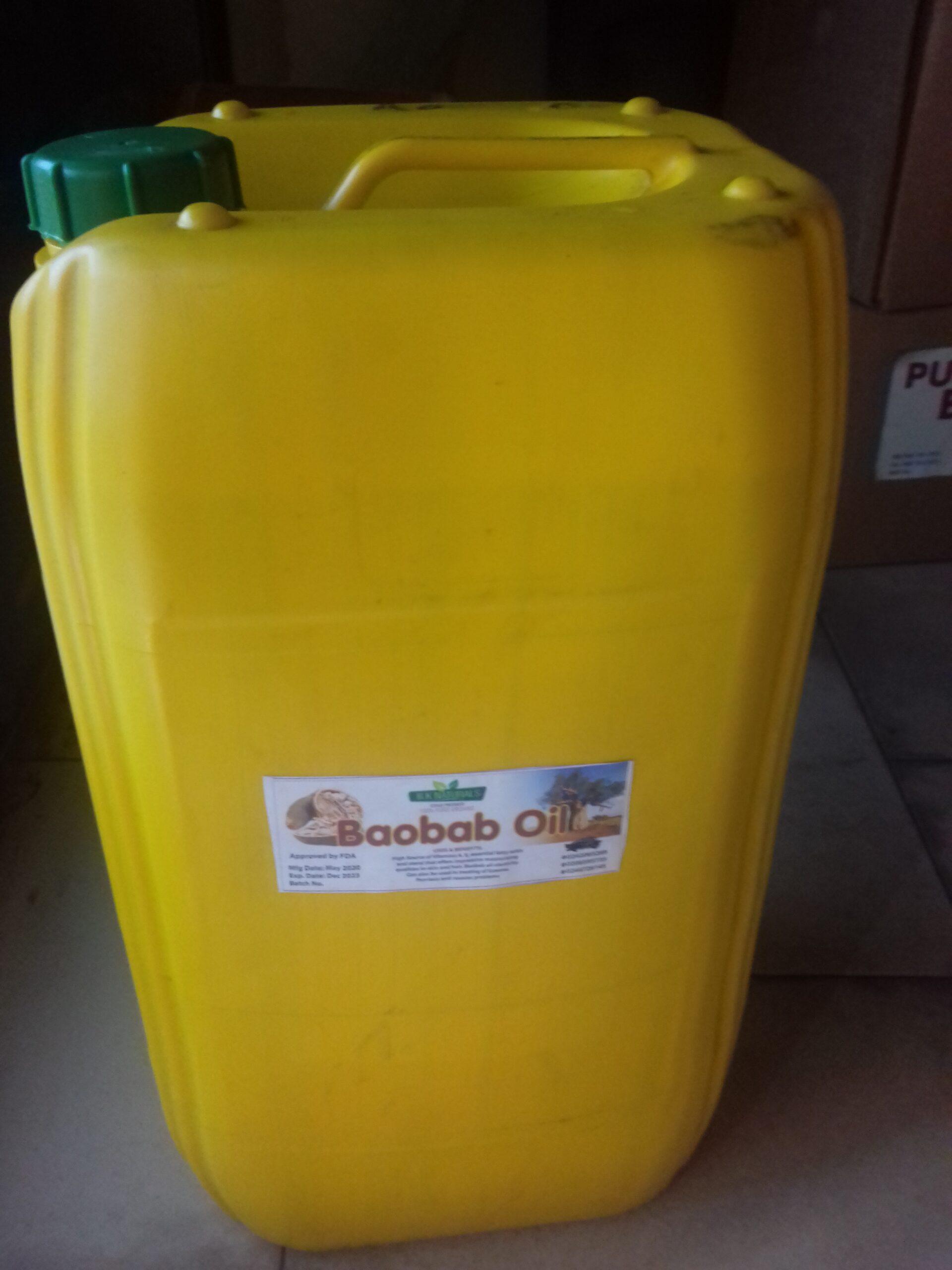 pure baoba oil 25 litre gallon