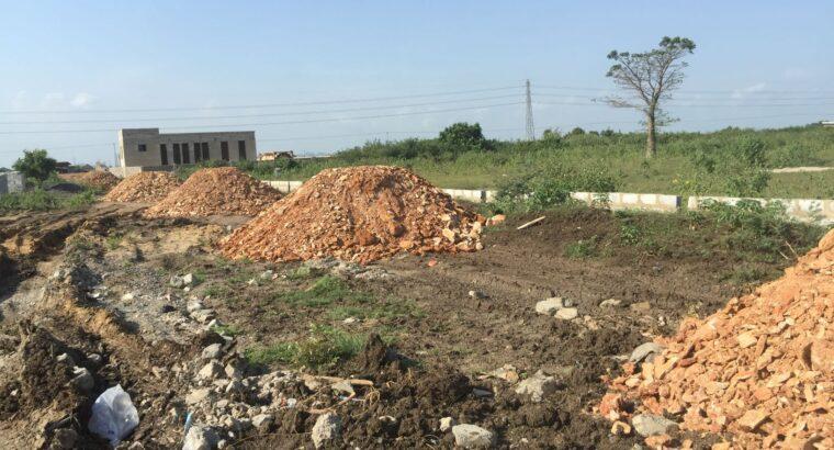 Roadside full plots at Dawhenya