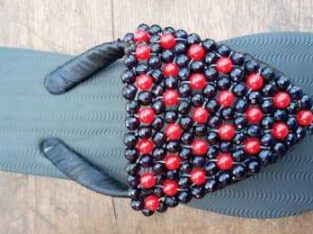 slippers designed with beads