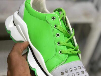Dress, heels, bags, sneakers