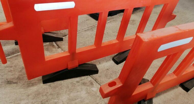Plastic Road barricade