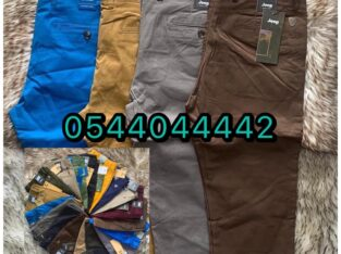 Khaki and Material Trousers