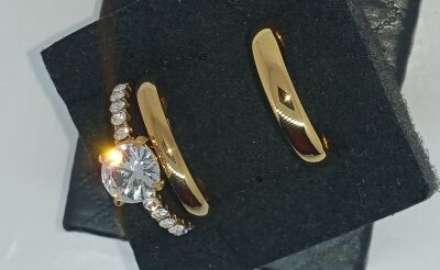 Quality promise/engagement/wedding rings set