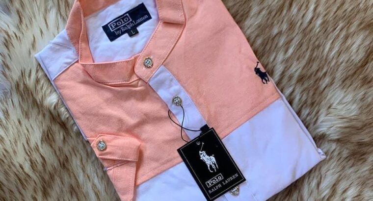 Polo plain and double colored short sleeve shirts